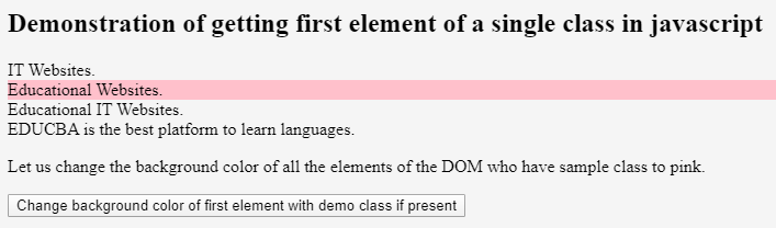 JavaScript Get Element by Class 6
