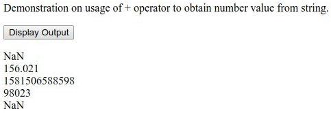 Plus Operator Example 3
