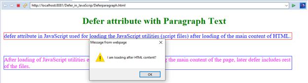 JavaScript defer - 1