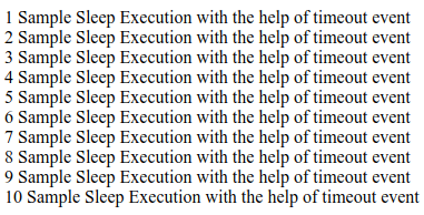 JavaScript sleep Function Example 5