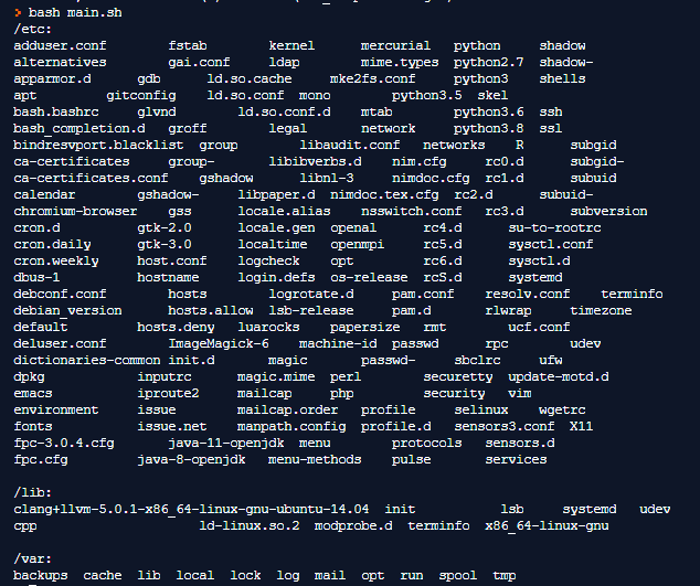 Linux Directory Structure Example 3