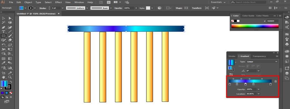 gradient scale