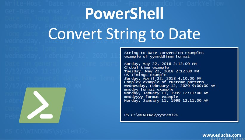 POWERSHELL CONVERT STRING TO DATE