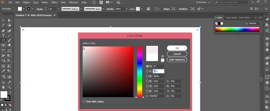 Fill Color box