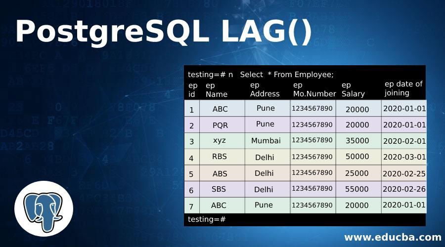 PostgreSQL LAG()