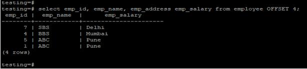 PostgreSQL OFFSET - 3