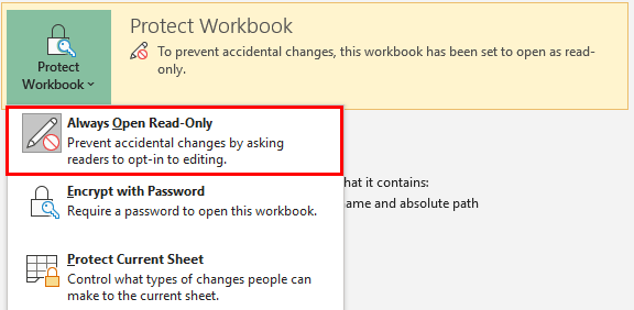Unprotect Excel Workbook 1-4