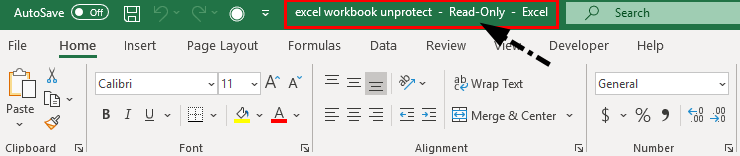 Unprotect Excel Workbook 1-6