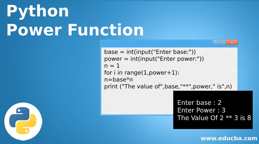 Python Power Function
