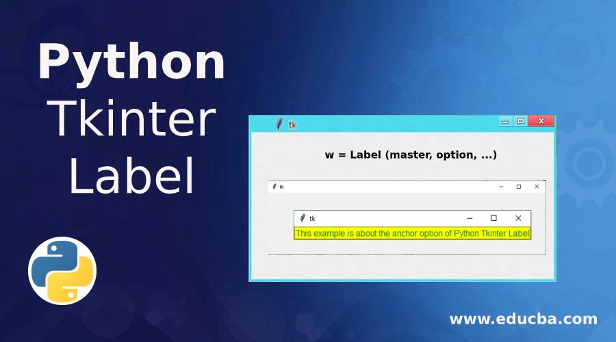 Python Tkinter Label