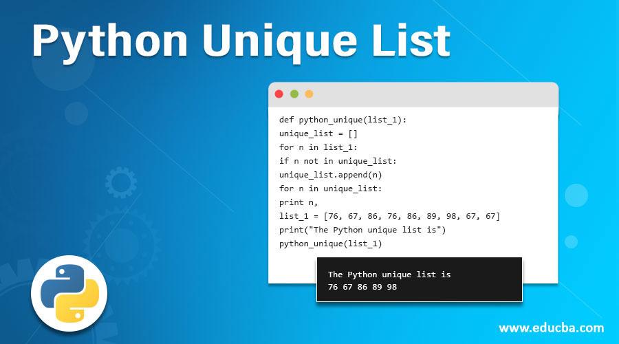Python Unique List