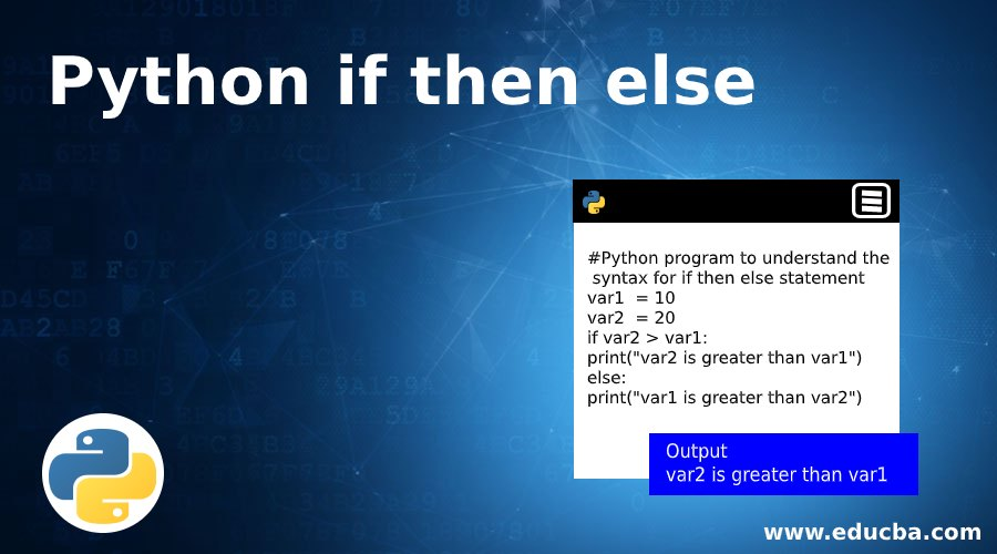 Python if then else