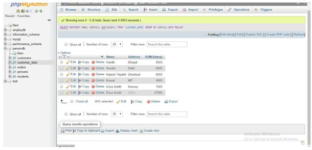 ROLLUP in MySQL 7
