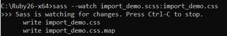 SASS Import - 1