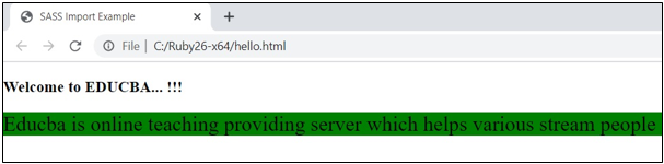 execute the html file