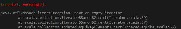generate error