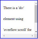 Scrollbar in HTML Example 2