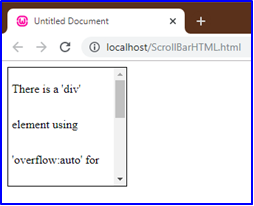 Scrollbar in HTML Example 3