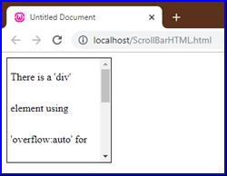 Scrollbar in HTML Example 5