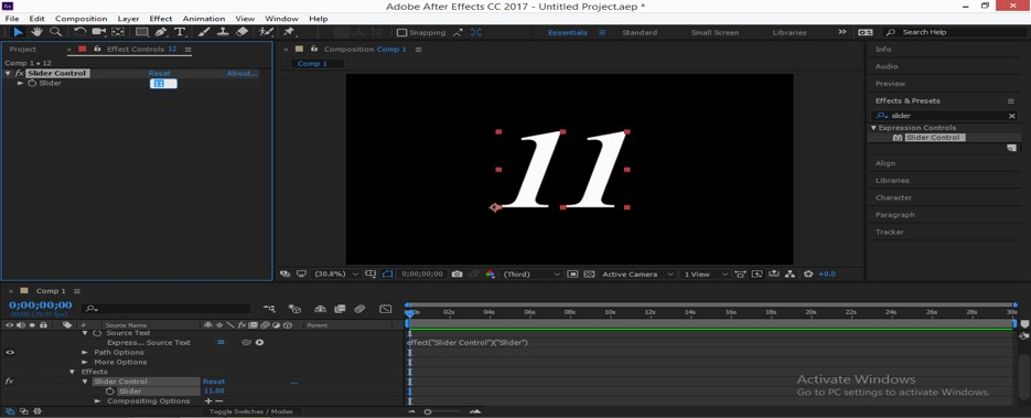 Slider Control After Effects - 15