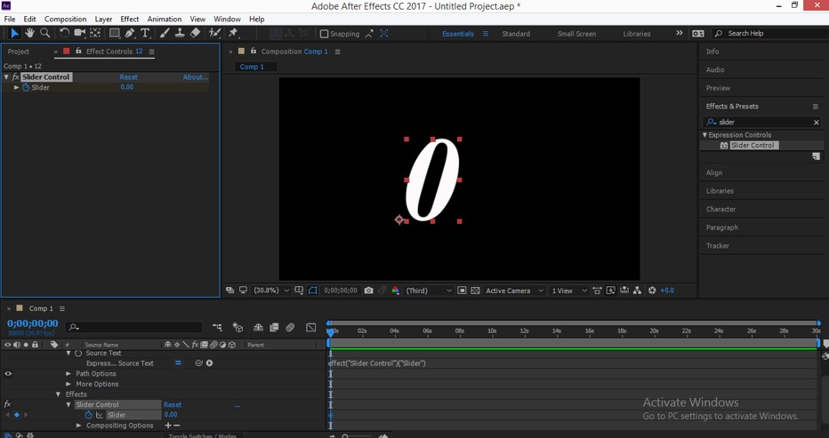 Slider Control After Effects - 16
