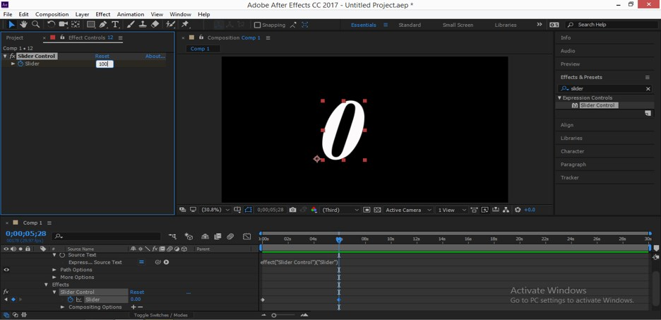 Slider Control After Effects - 18