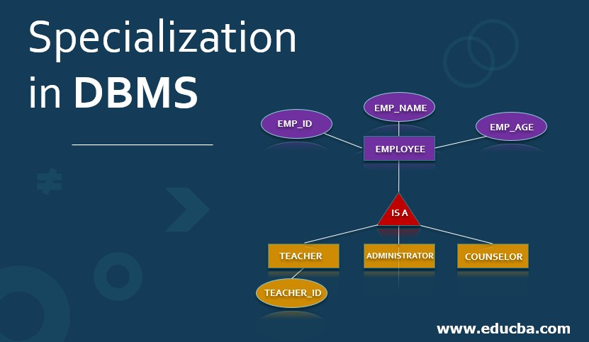 Specialization in DBMS