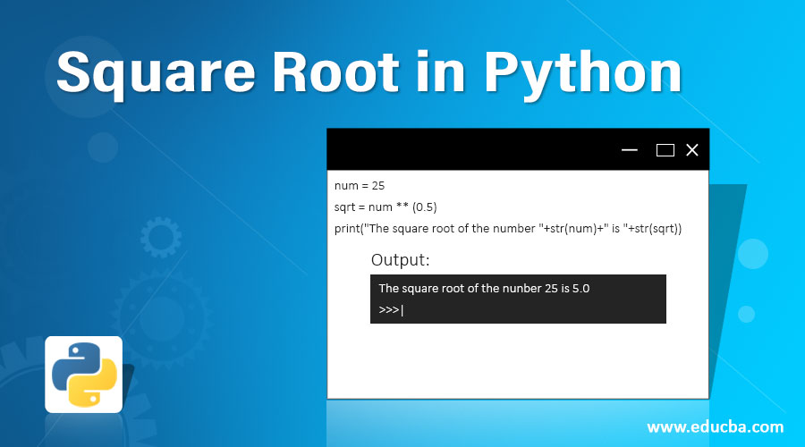 Square Root in Python