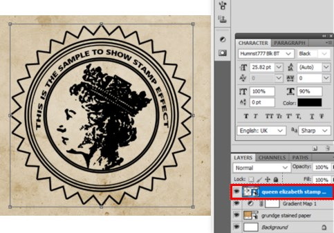 Stamp Effect in Photoshop - 36