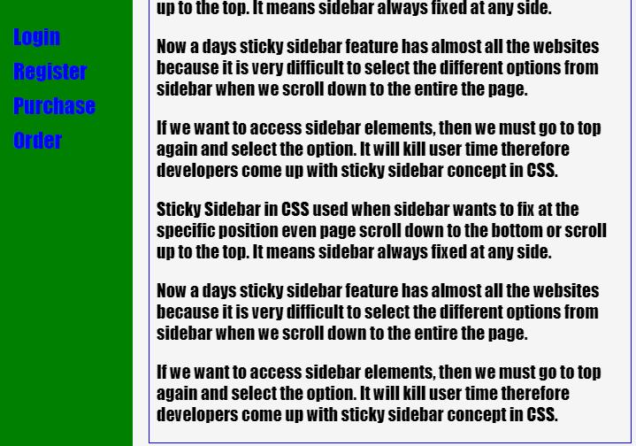 Sticky Sidebar CSS-1.2
