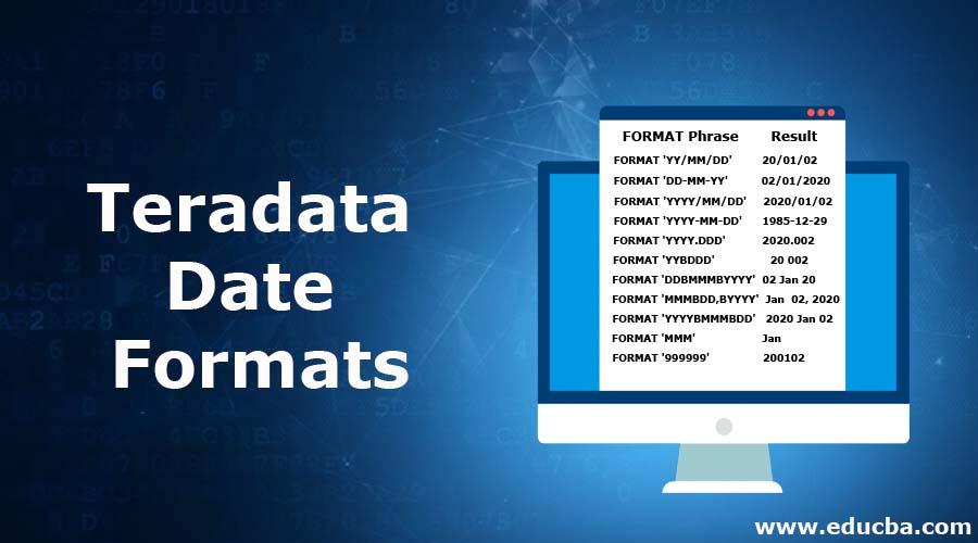 TeradataDate Formats