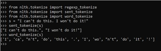 Tokenization in Python4