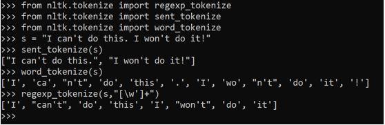 Tokenization in Python5