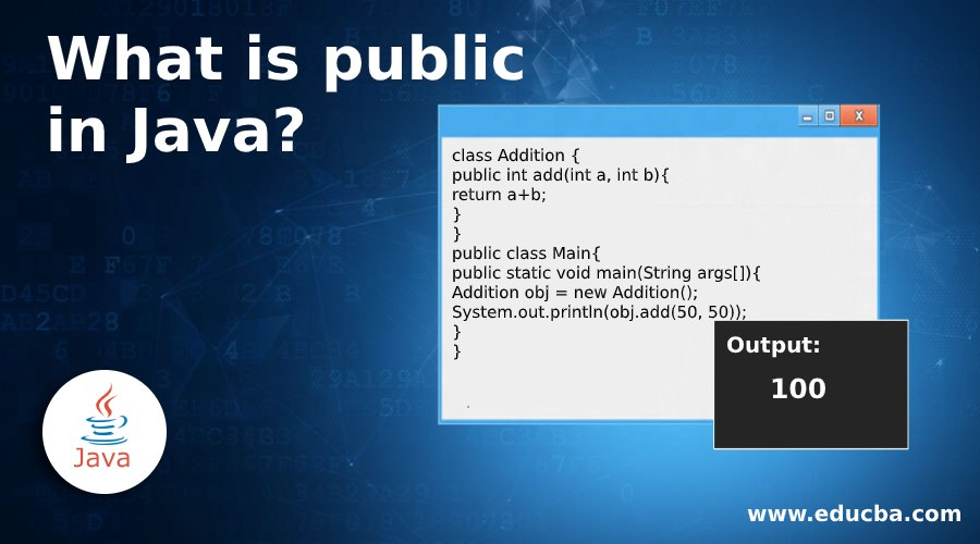 What is public in Java