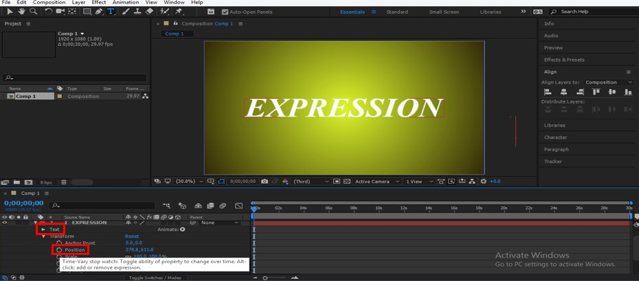 Wiggle Expression in After Effects - 14