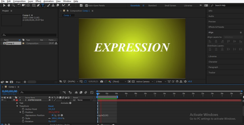 Wiggle Expression in After Effects - 21