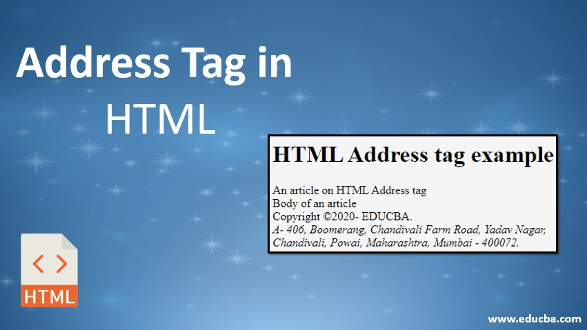 address tag in html
