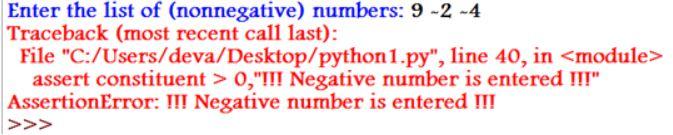 assert in python 4