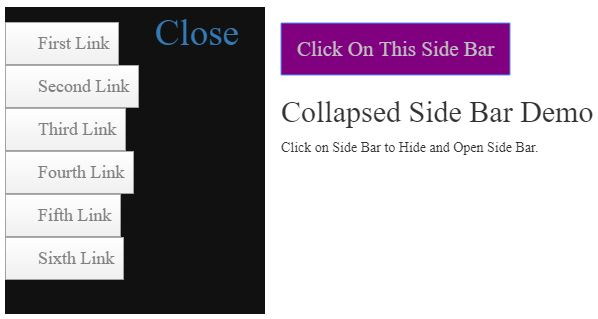 bootstrap collapse sidebar 8