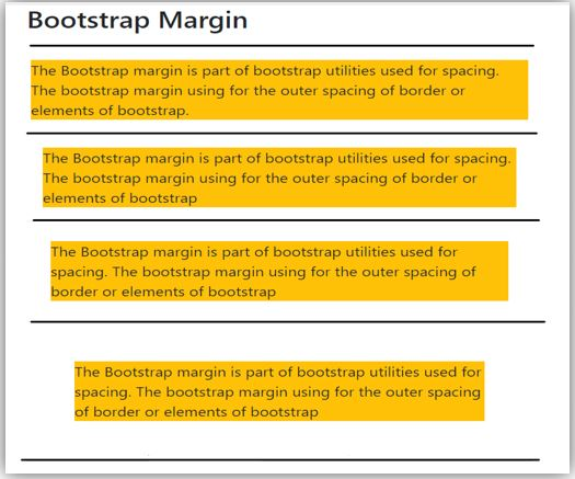 bootstrap margin 1
