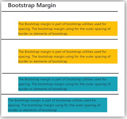 bootstrap margin 3