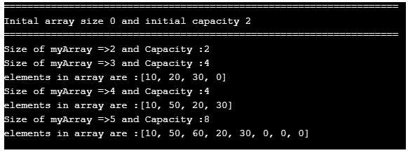 dynamic array in java 1