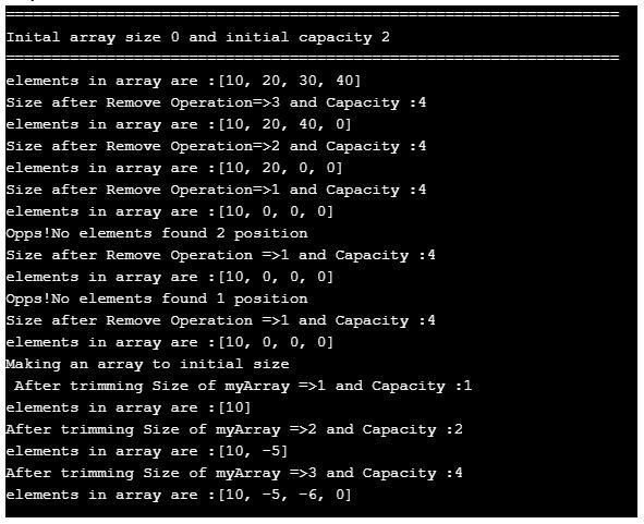 dynamic array in java 2