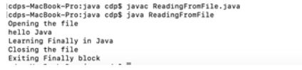 finally in java 4