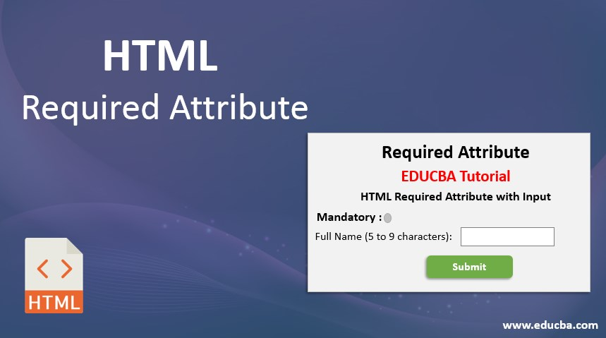 html required attribute