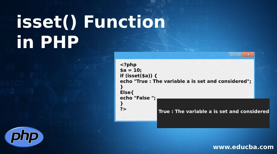isset() Function in PHP