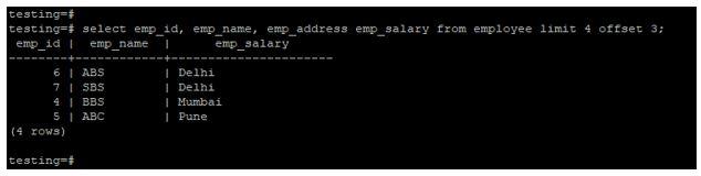 postgreSQL LIMIT 5