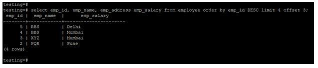 postgreSQL LIMIT 7