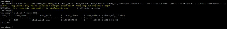 postgreSQL UNIQUE Constraint 8