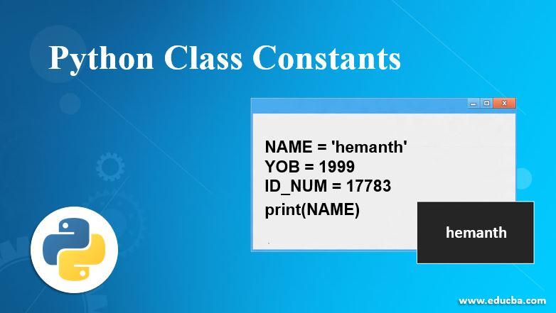 Python Class Constants
